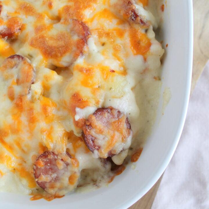 Cauliflower Perogie Casserole